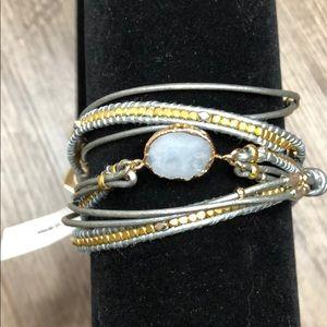 NWT! Nakamol wrap bracelet geode crystal